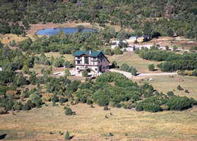 J2F Guest Ranch from the air