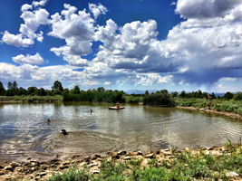 J2F Guest Ranch - Pond by the Lodge