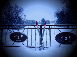 J2F Guest Ranch - Gate in Winter Photo